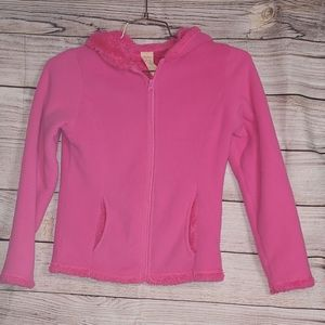 🌵3/$20 Fluffly hot pink zip up hoodie size L